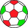 disegno di pallone da calcio colorato